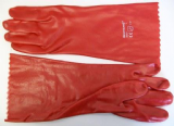 Red Long 14 inch Gauntlet PVC Gloves - 67000590